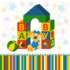 children's blocks toys - vector illustration