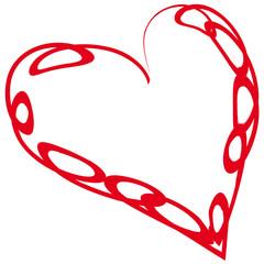 Rotes Herz - Kringellinie