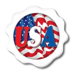 USA White Button