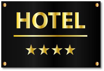 Hotel Sterne Motel Klasse Schild
