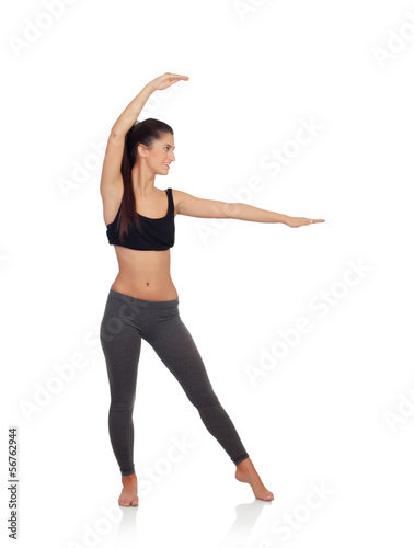Woman doing yoga exercises
