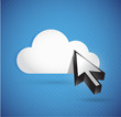 cloud and cursor. connection concept