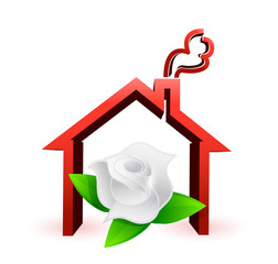 flower house illustration design graphic
