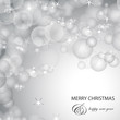 Silver Festive Christmas Background - Vector