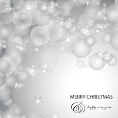 Silver Festive Christmas Background - Vector