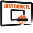 Just Dunk It Basketball Dunking Design