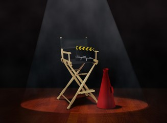 Director Chair with Clapper and Megaphone