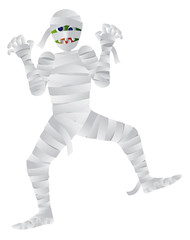 Halloween Mummy Cartoon Illustration