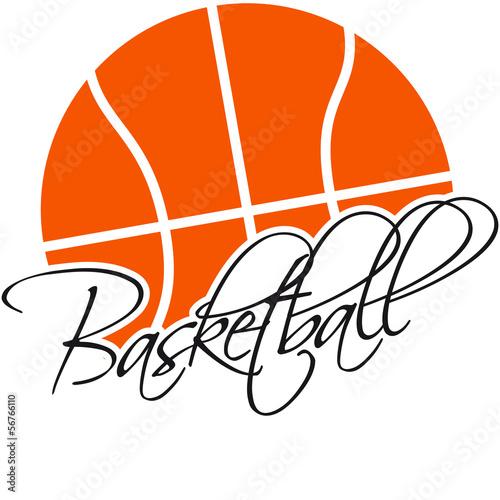 Basketball Text Logo Design