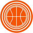 Basketball Round Logo Design