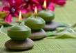 Wellness Magnolien Kerzen Grün