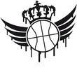 Basketball Blazon Logo Graffiti