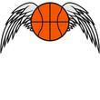 Basketball Angel Wings Design