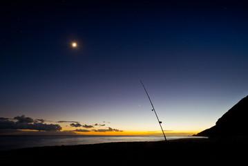 Night fishing at beach