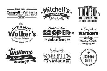 9 Vintage Insignias