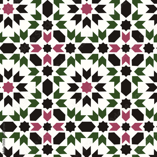 seamless islamic geometric pattern - 56767594