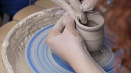 Pottery class workshop.