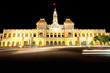 Night scene of Ho Chi Minh City Hall in Vietnam