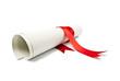 Graduation diploma scroll  - 56769931