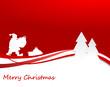 Weihnachtsmann mit Kugeln im Wald