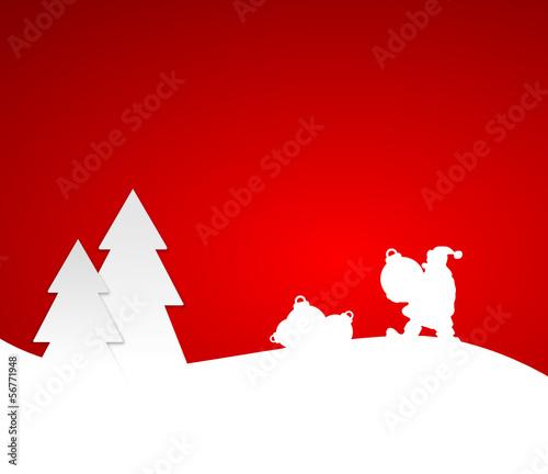 Weihnachtsmann mit Kugeln