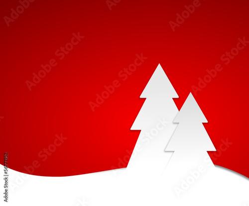 Rote Karte Weihnachtsbäume