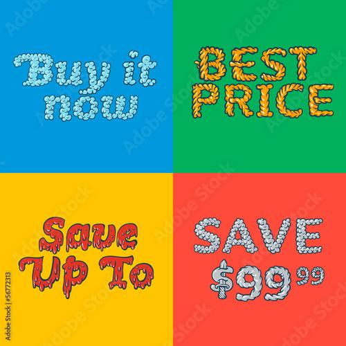 Hot Sale poster, vector Eps10 illustration.