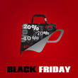 Background on Black Friday with shopping bag