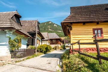 In The Streeet Wooden Settlement Vlkolinec