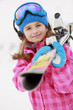 Skiing, skier, winter sports - portrait of young skier
