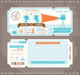 Movie Ticket Wedding Invitation Design Template
