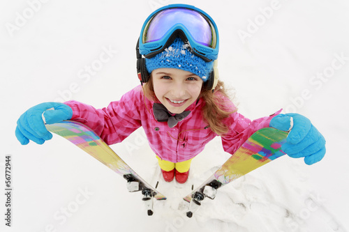 Papiers peints Glisse hiver Ski, skier, winter sports - portrait of young skier