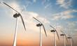 Leinwanddruck Bild - wind turbines