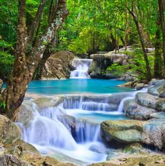 Erawan waterfall in Kanchanaburi province of Thailand