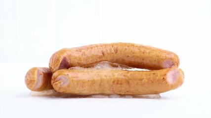 Frozen sausage melting (Timeslapse)