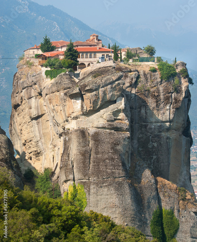 Surrounded by the winds of a monastery in Greece