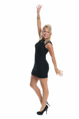 Frau im sexy Minikleid