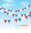 coloured bunting on a sky background - 56774538