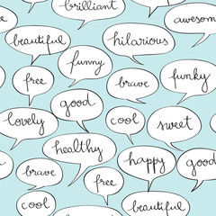 happy speech bubbles pattern © richcat