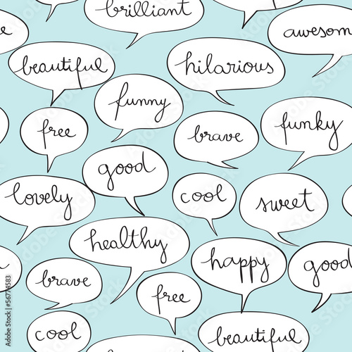 happy speech bubbles pattern
