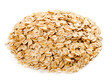 Diet oatmeal isolated on white background