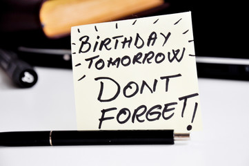 do not forget my birthday reminder