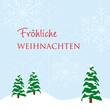 fröhliche weihnachten schneelandschaft