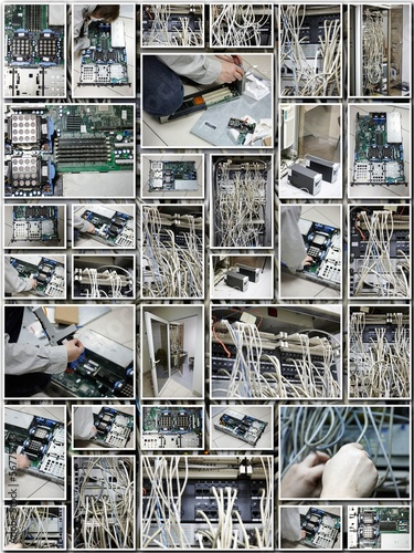 Server room collage