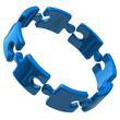 Illustration of open blue puzzle ring