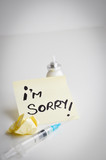 i am sorry message left from a drug addicted person