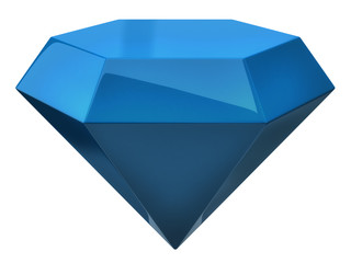 Blue illustration of diamond