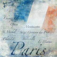 Fond grunge Paris
