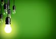 Leinwanddruck Bild - Idea concept on green background.
