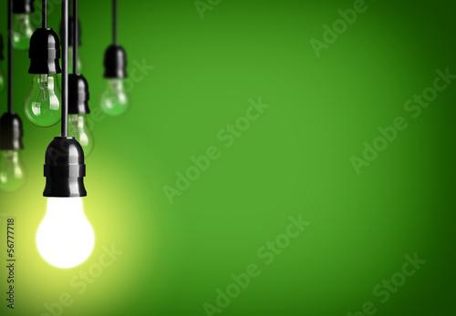 Leinwanddruck Bild Idea concept on green background.
